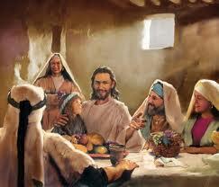 Jesus comiendo