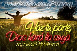Haz tu parte, Dios hará la suya