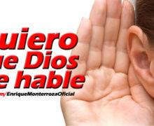 Video: Quiero que Dios me hable